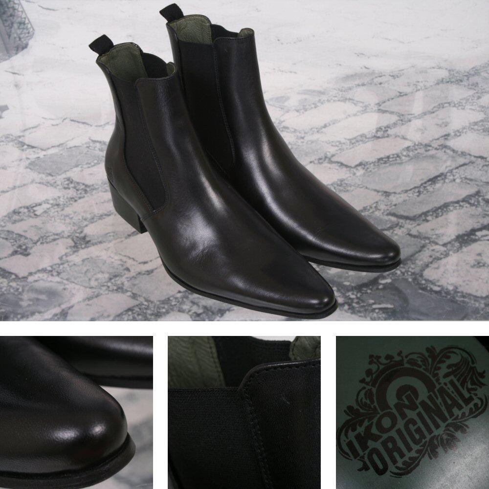 Ikon Originals Revolver Chelsea Beat Boot Leather Black
