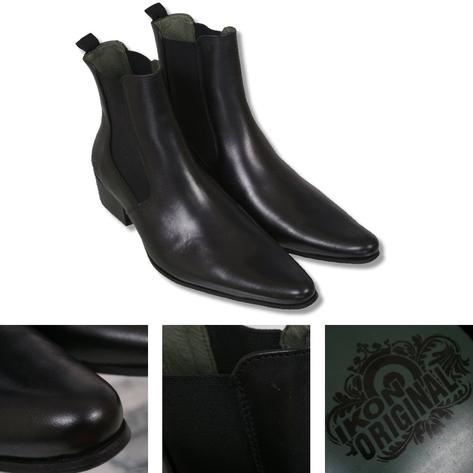 Ikon Originals Revolver Chelsea Beat Boot Leather Black Thumbnail 1