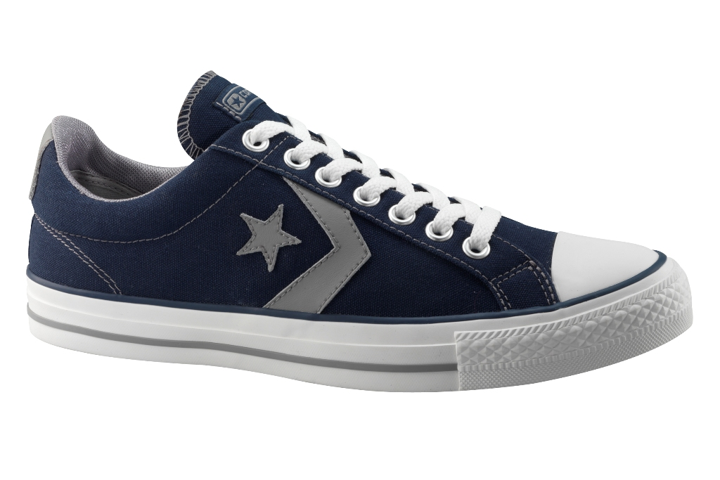 7e9b7eb8de3 Converse Star Player Ev Ox Lo Canvas Trainer Navy Blue | Adaptor ...