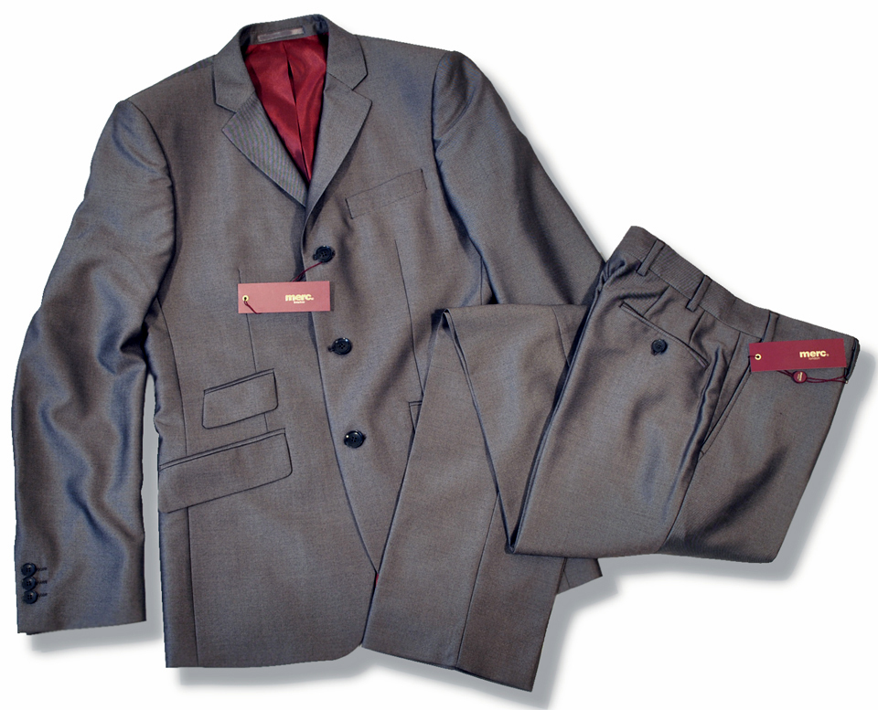 c66cc0ad526 New Merc Mod 2 Two Tone Tonic Suit Charcoal Grey Thumbnail 1 ...