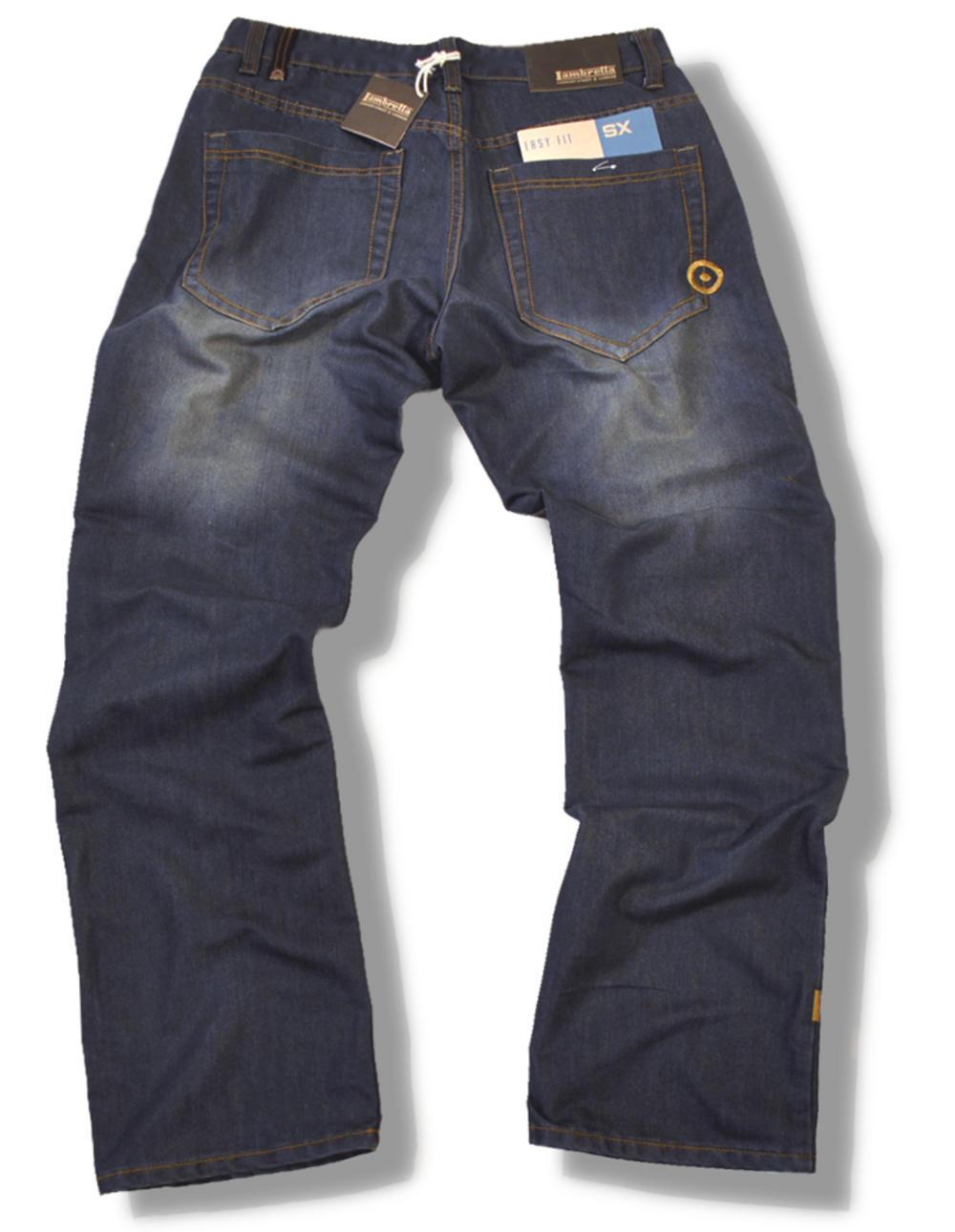 5eb5ac07440 Lambretta Clean Mod Target Dark Denim Easy Fit Jeans | Adaptor Clothing