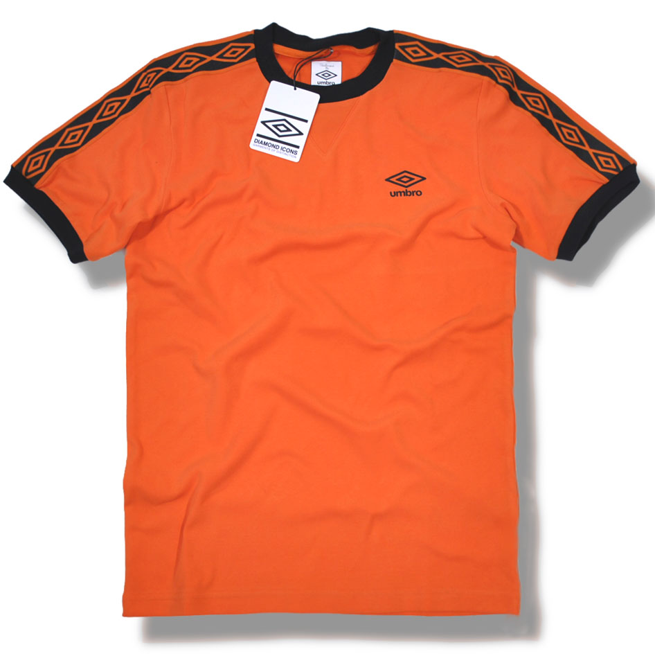 544ceade Umbro Classics Diamond Icons Ringer T Shirt Orange | Adaptor Clothing