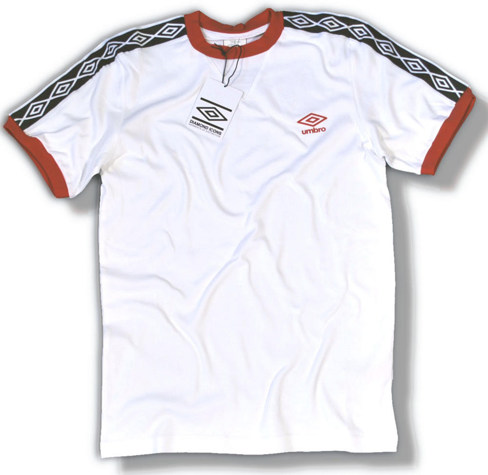 6fc04e5c Umbro Classics Diamond Icons Ringer T Shirt White Red | Adaptor Clothing