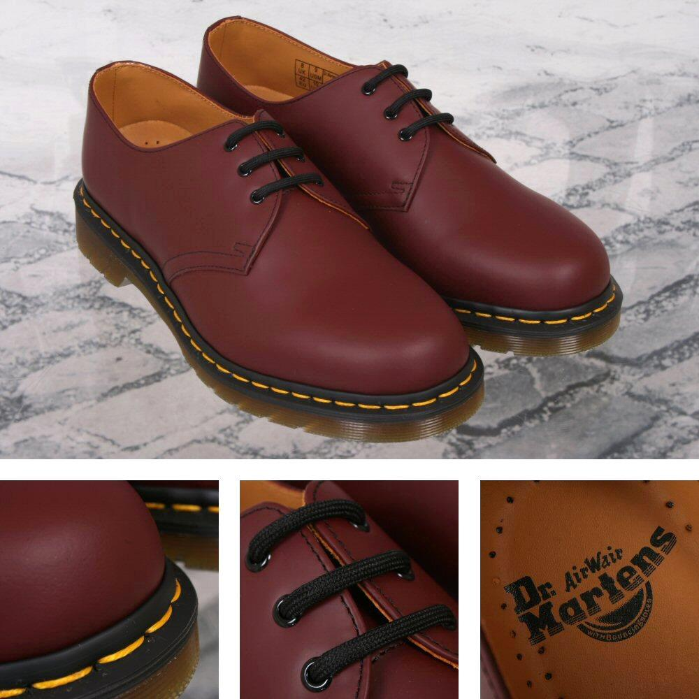 New Dr. Martens 1461 3 Eye Shoe Cherry Red Smooth UK 6 - 12