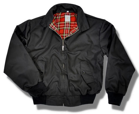 Classic Mod Skin Harrington Jacket Tartan Lining 9 Colours Sizes XXS - 5XL Thumbnail 3