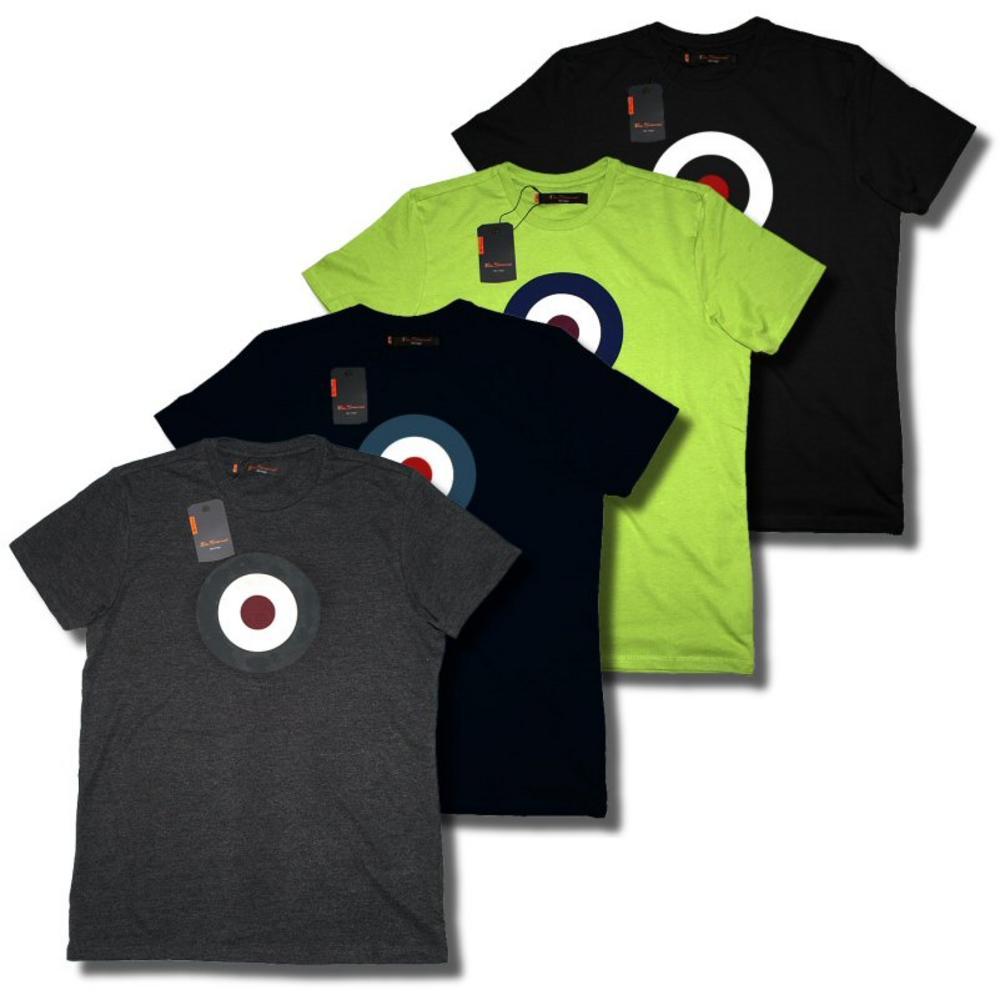 Black t shirt target - New Ben Sherman Mod 60 S Target Roundel T Shirt Charcoal Lime Navy Black