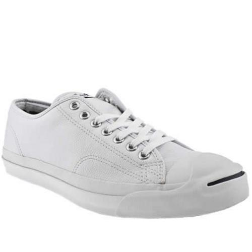 b7e65a18f4063e Converse Jack Purcell Leather Ox Low Classic Trainer Shoe UK 9 ...