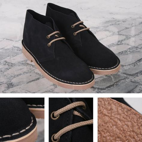 New Roamers Mod Suede 2 Hole Rubber Sole Desert Boots Thumbnail 4