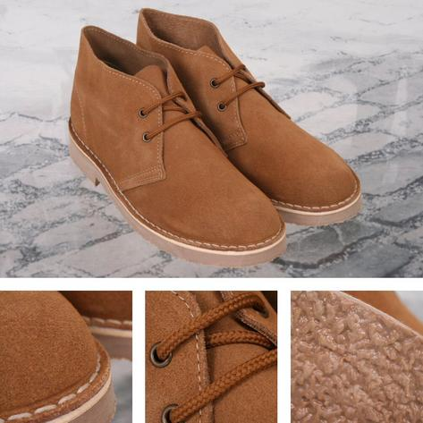 New Roamers Mod Suede 2 Hole Rubber Sole Desert Boots Thumbnail 2