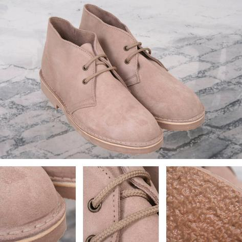 New Roamers Mod Suede 2 Hole Rubber Sole Desert Boots Thumbnail 3