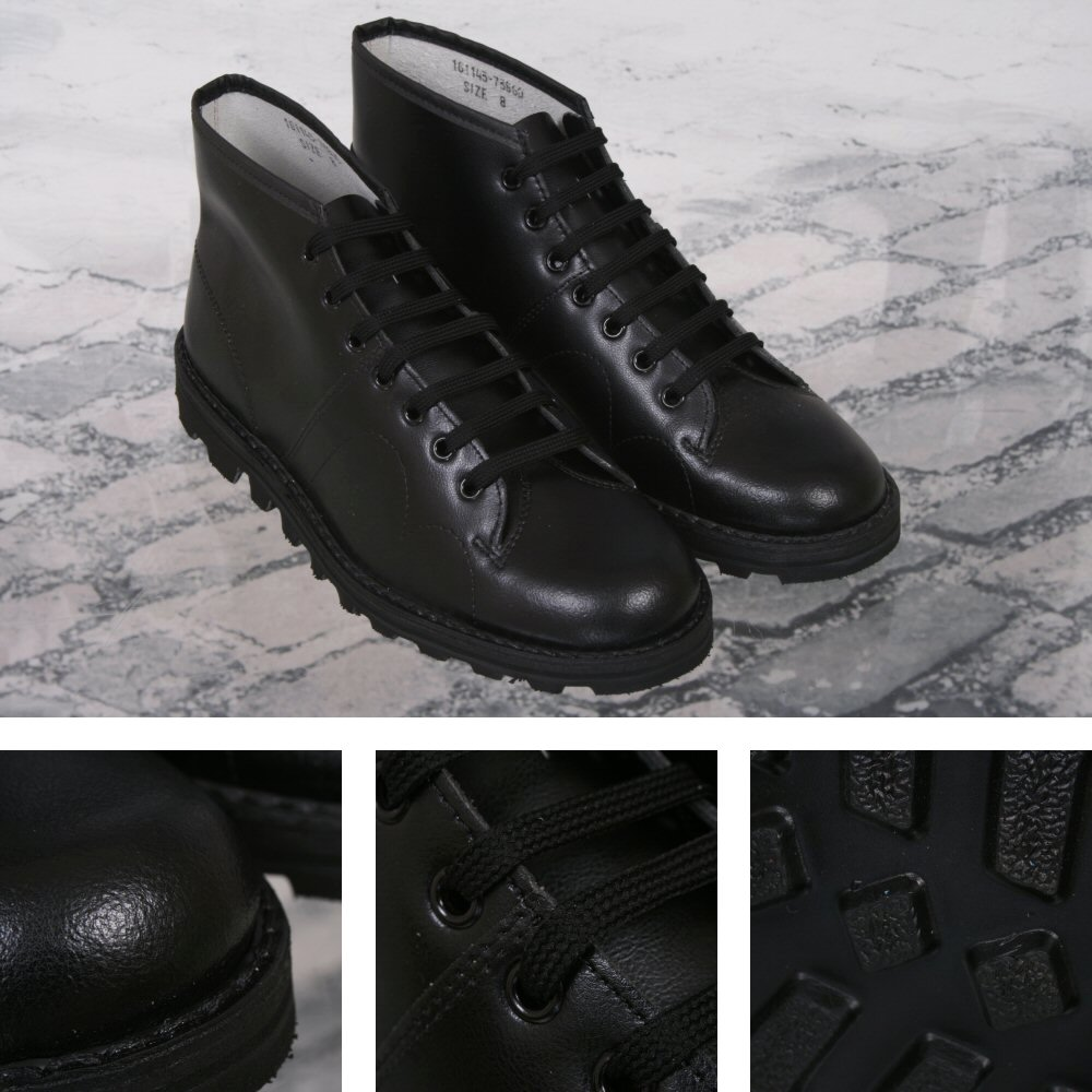 a814d2b11bb New Grafters Retro Treaded Sole Leather Monkey Boots Black 9