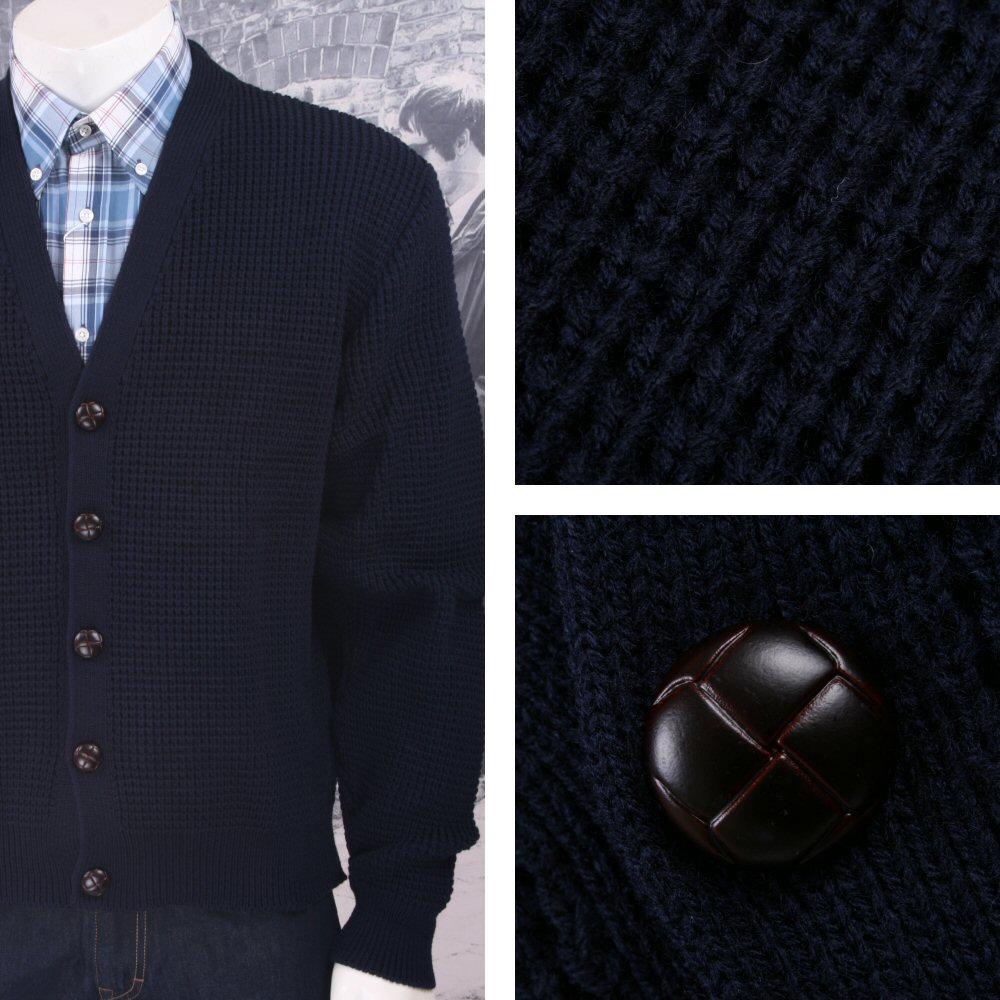 Skinhead Mod Waffle Knit Cardigan