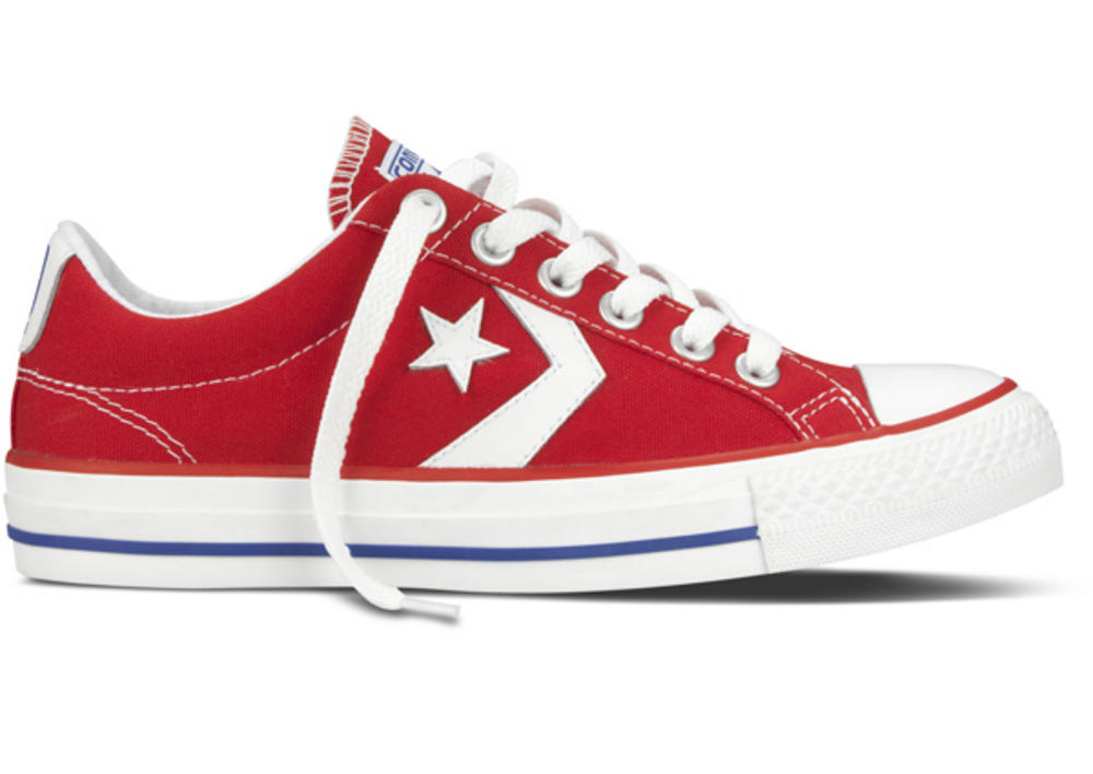 converse Star Player Ox Canvas Red / White