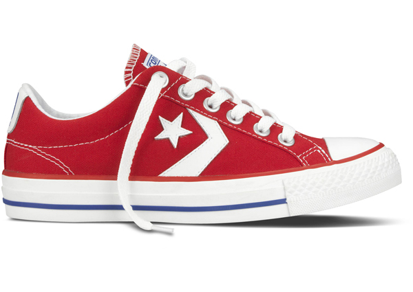 aebe8d486822 Converse Star Player Ev Ox Lo Canvas Trainer Varsity Red   White UK 8  Thumbnail 1