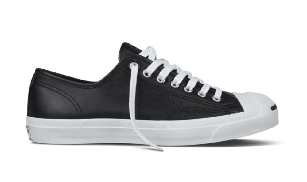 e6e4f291c239e5 Converse Jack Purcell Leather Ox Low Classic Trainer Shoe Black ...