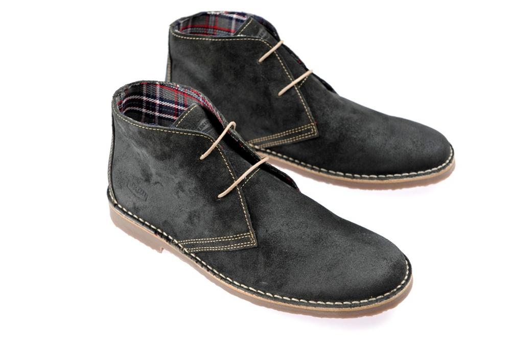 New Ikon Classic 2 Hole Suede Chukka Desert Boot Grey