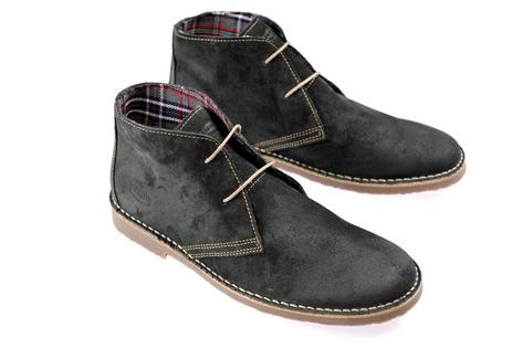 New Ikon Classic 2 Hole Suede Chukka Desert Boot Grey Thumbnail 1
