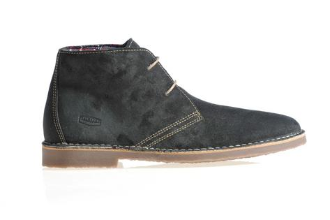 New Ikon Classic 2 Hole Suede Chukka Desert Boot Grey Thumbnail 2