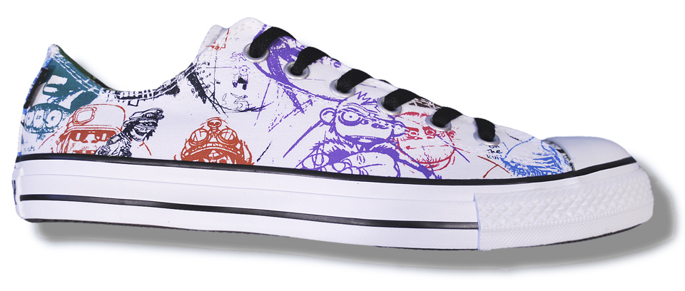 best sneakers f0436 60b47 Converse   Gorillaz Limited Edition Canvas Ox Lo Trainer Shoe White