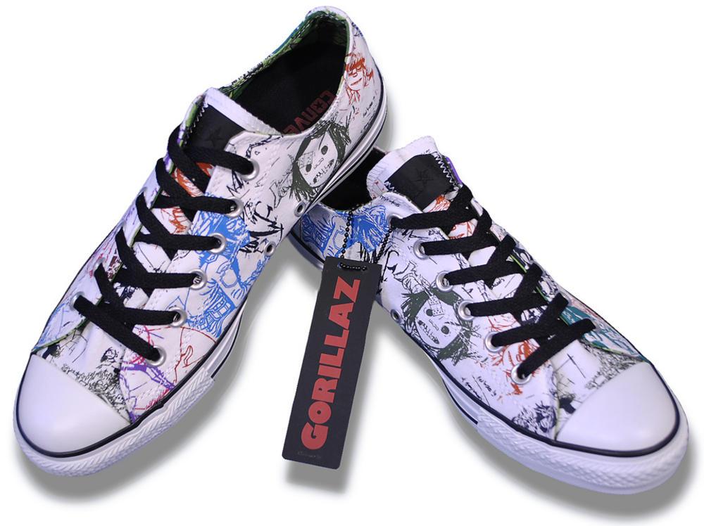 f69396ce743 Converse   Gorillaz Limited Edition Canvas Ox Lo Trainer Shoe White ...