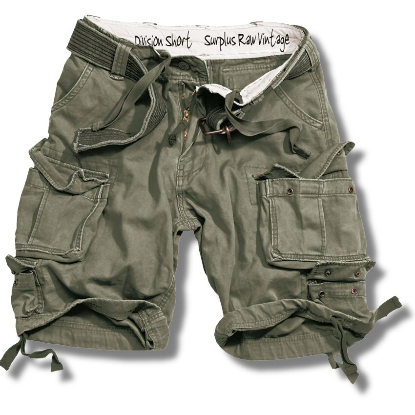Surplus Raw Vintage Division Belted Cargo Shorts Adaptor