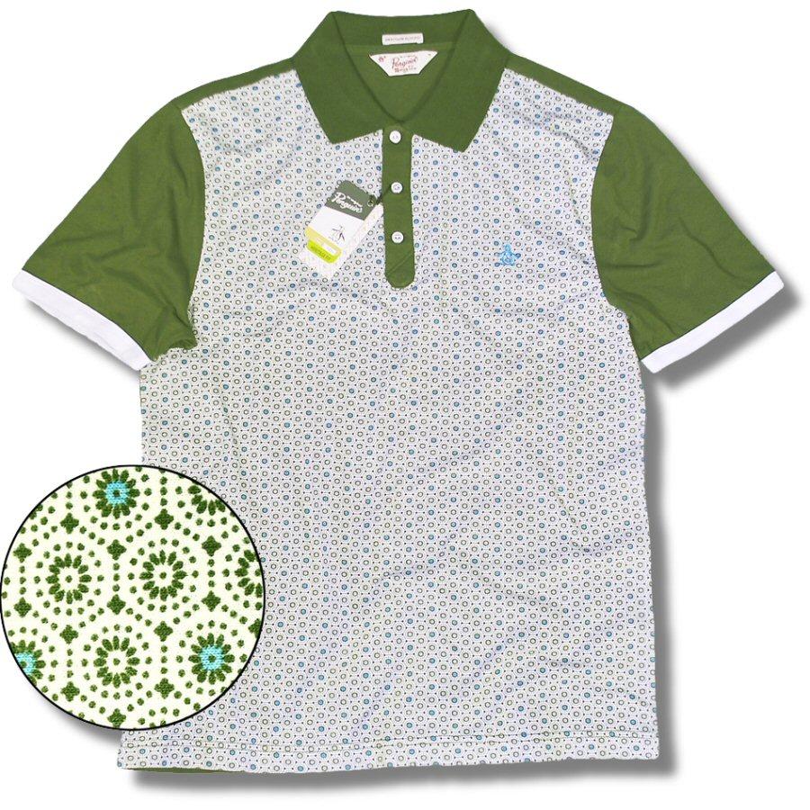 6ee42e2b Original Penguin Jersey Floral Pattern Print S/S Polo Shirt Green S  Thumbnail 1