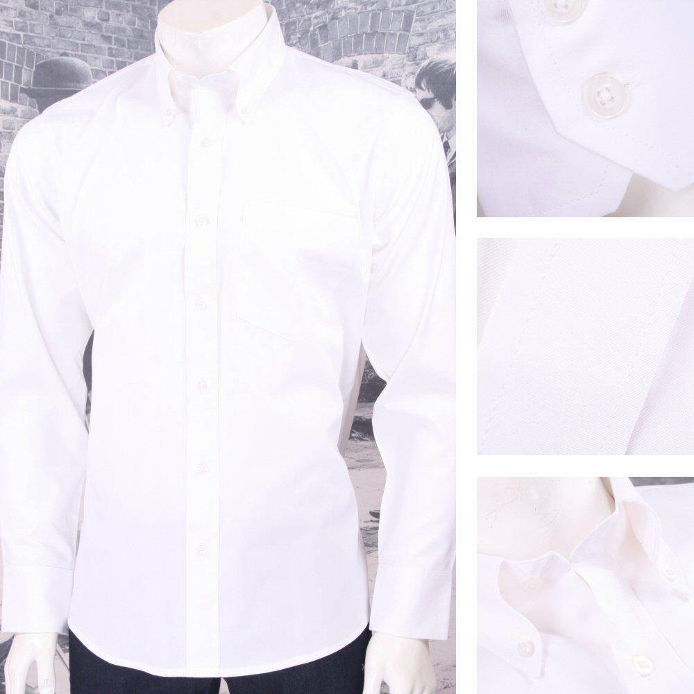 11bc1af070b9  Relco Smart Mod Button Down L S Cotton Oxford Shirt White