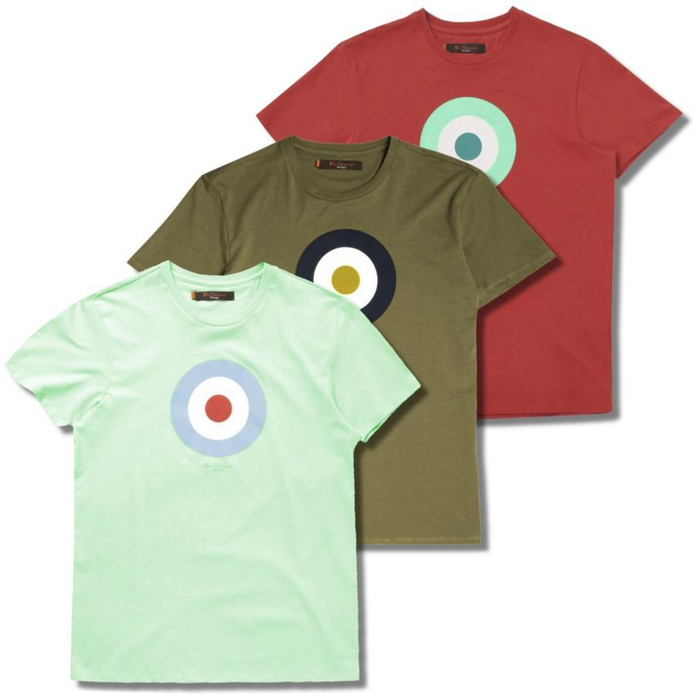 1c69f122 Khaki / Coral//Ben Sherman Spring / Summer Mod 60's Target Roundel T Shirt  Mint / Khaki / Coral | Adaptor Clothing