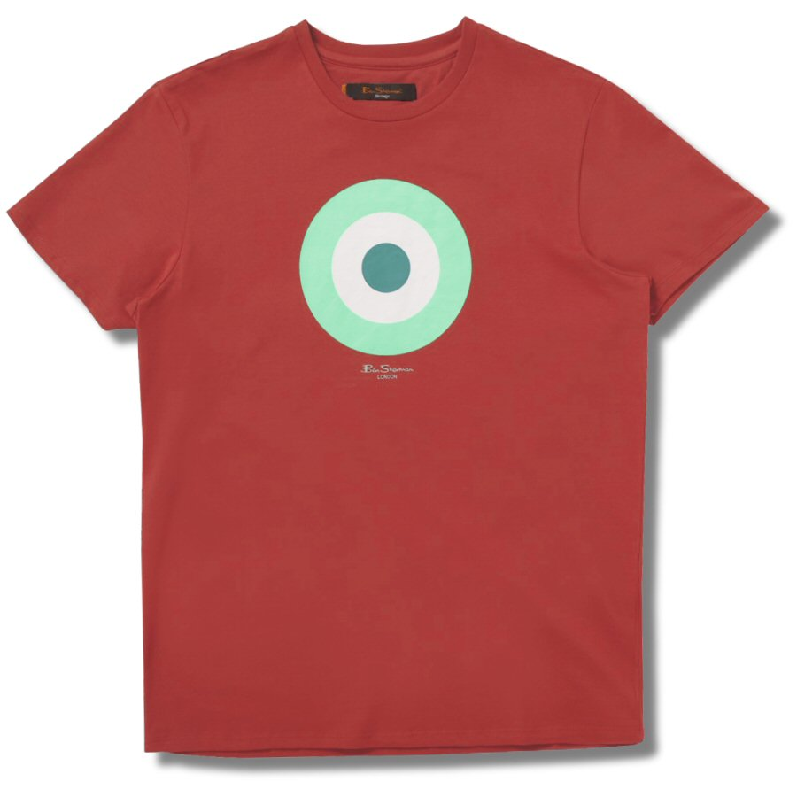 0977ec02 Ben Sherman Spring / Summer Mod 60's Target Roundel T Shirt Coral XXL  Thumbnail 1