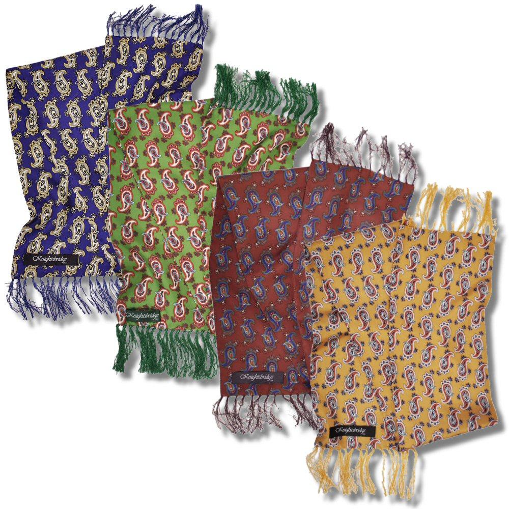 knightsbridge mod 60 s retro 7 quot silk paisley scarf