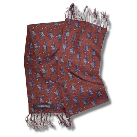 "Knightsbridge Mod 60's Retro LONG 7"" Silk Paisley Scarf Thumbnail 4"