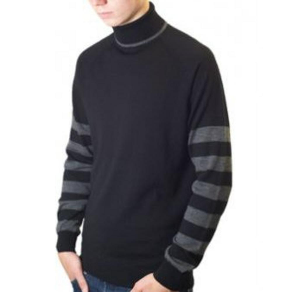 cheap for discount 2020 fast color Art Gallery Small Faces 60's Retro Mod Striped Knit Roll Neck Jumper Black