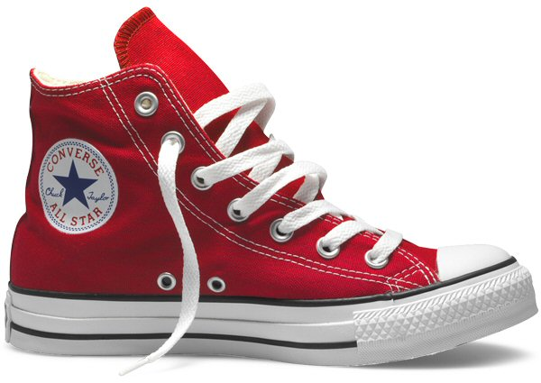 Converse Chuck Taylor All Star Hi Top Canvas Trainer Boot M9621 Red UK 6