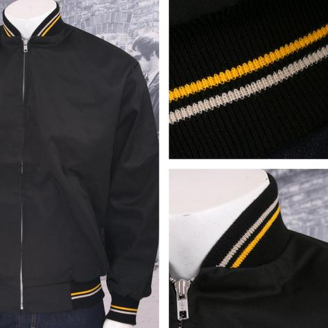 Relco Mod 60's Retro Skins Tipped Collar Monkey Jackets Thumbnail 5