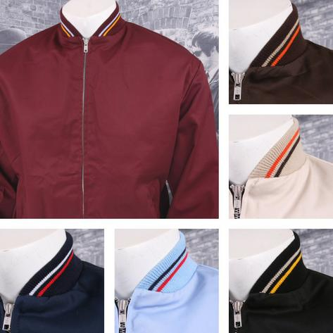 Relco Mod 60's Retro Skins Tipped Collar Monkey Jackets
