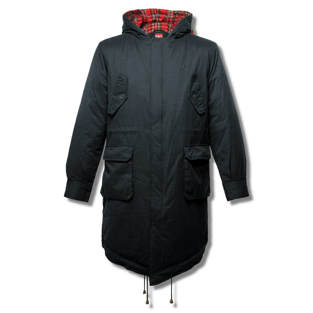 New Merc London M51 Style Mod Fishtail Parka Tobias Navy Blue ...