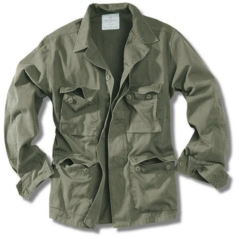 New Surplus Raw Vintage Washed Cotton BDU Military Jacket Thumbnail 2