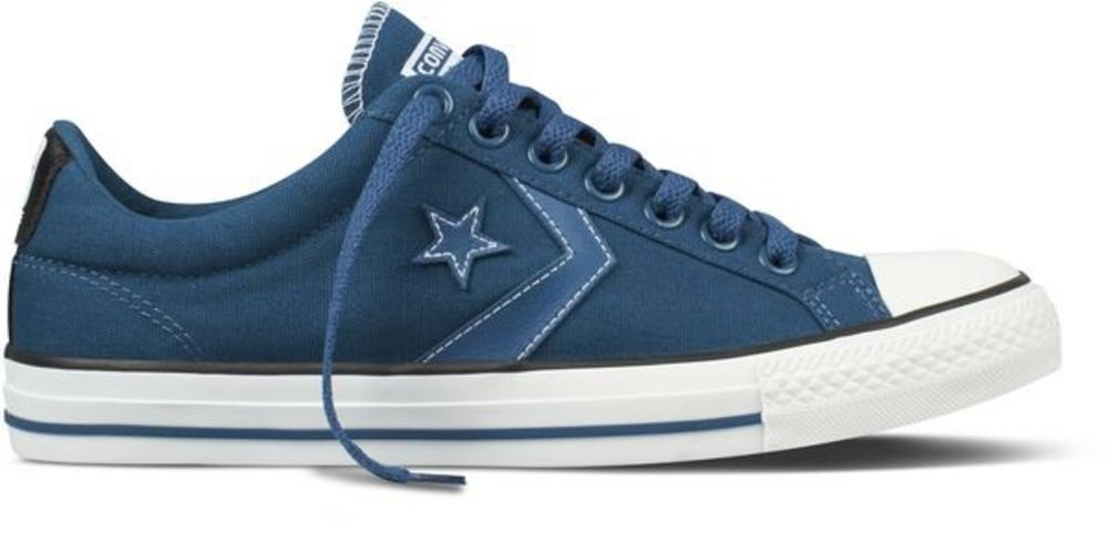 Converse Star Player Ev Ox Lo Canvas Trainer Navy Blue