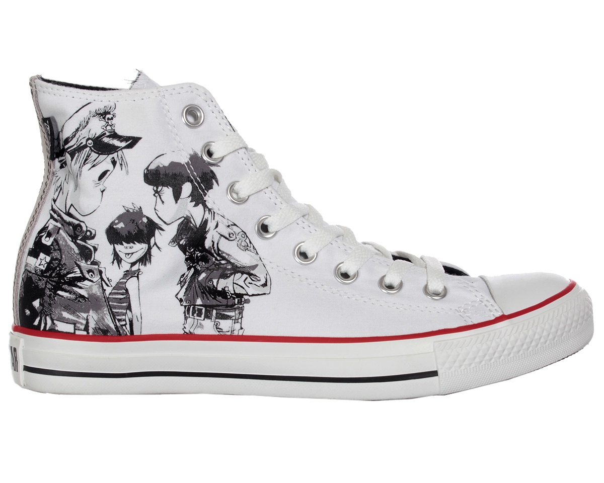 buy online eef1f 6e5dc Converse Gorillaz All Star Hi Canvas Trainer Boot White 8 Thumbnail 1 ...