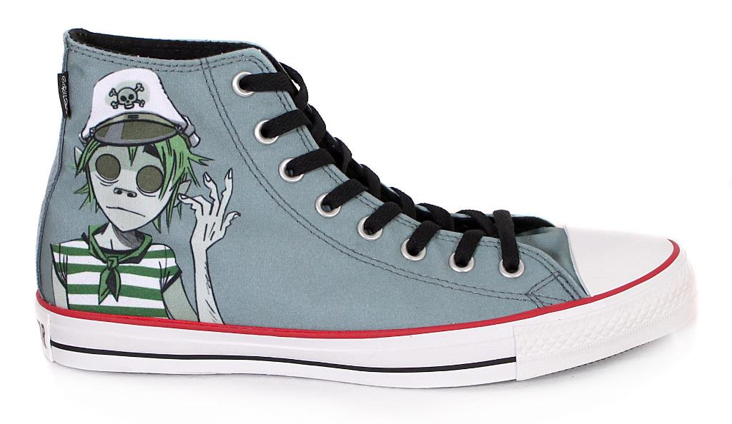 best service ea2ce 8f5a0 Converse Gorillaz All Star Hi Canvas Trainer Boot Grey 8 Thumbnail 1
