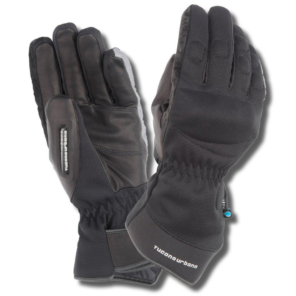 Tucano Urbano Scootering Armoured Leather Seppia Invernale Scooter Gloves Black