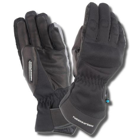 Tucano Urbano Scootering Armoured Leather Seppia Invernale Scooter Gloves Black Thumbnail 1