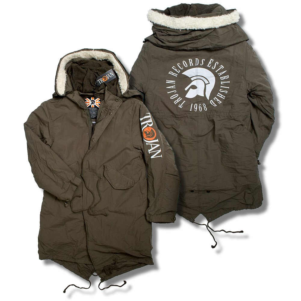 Lambretta Ltd Edition Trojan Records Mod M65 Fishtail Parka Khaki ...