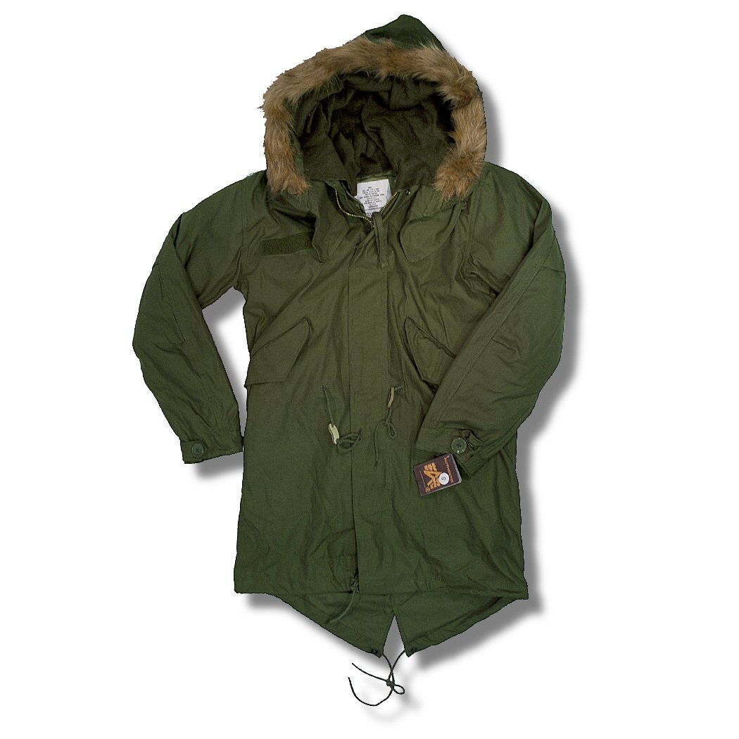 newest collection b643b bd1c8 Alpha Industries Mod 60's Fur Hood Military M65 Fishtail Parka Coat Olive M