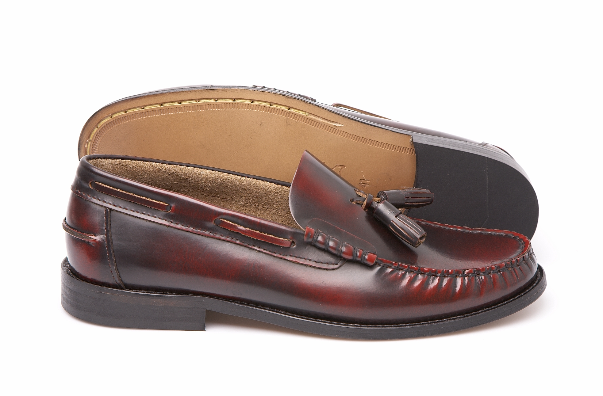 Delicious Junction Merton Mod Beefroll Tassel Leather Loafer Shoe Ox