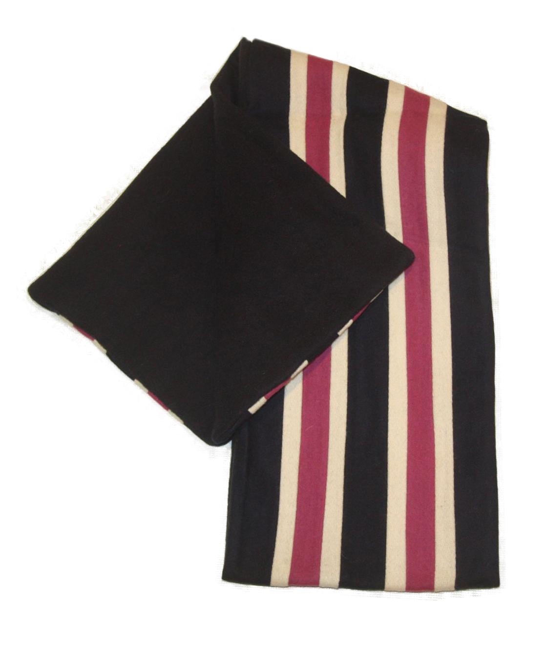 college mod stripe wool fleece scarf navy