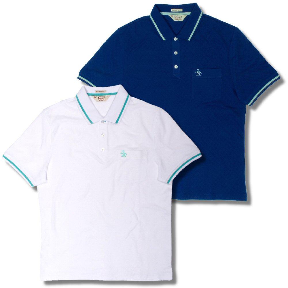 cd562e03 Original Penguin Tipped Diamond Jacquard Fabric S/S Polo Shirt Thumbnail 1  ...