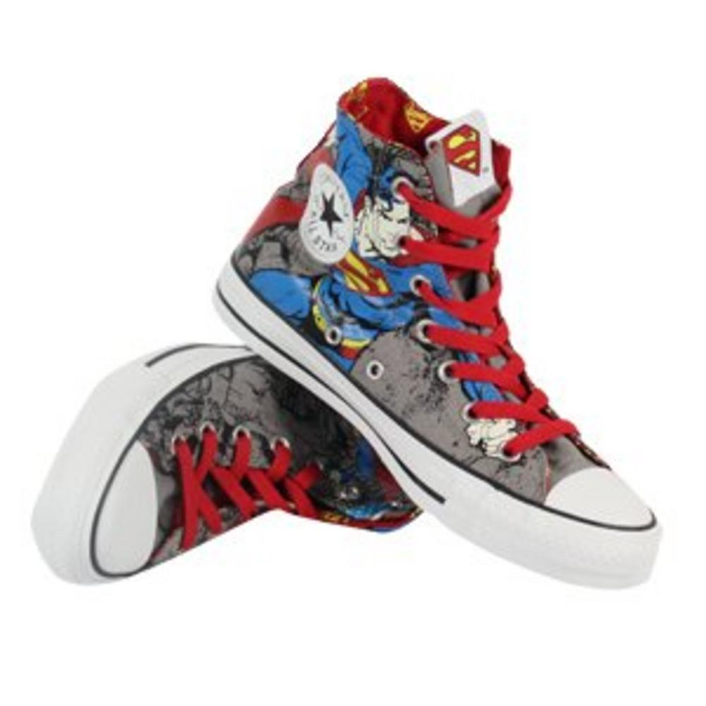 88812dd8e57f Converse DC Comics Superman All Star Hi Canvas Grey Damaged Box Hence The  Price