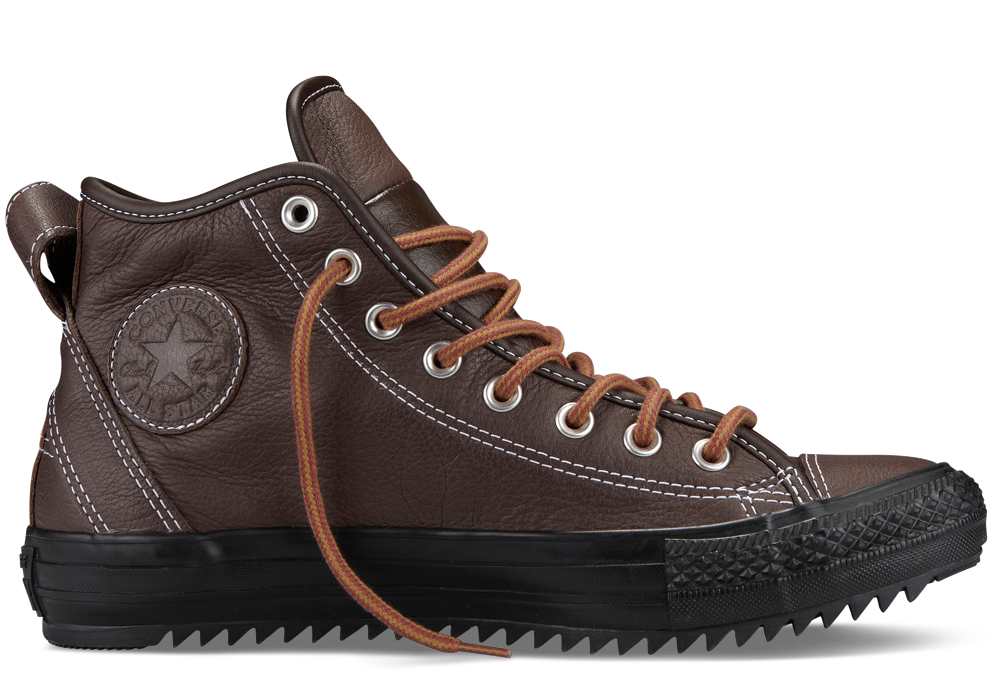 Converse Ct Hollis Winter Weight Leather Boot Choc Brown 6