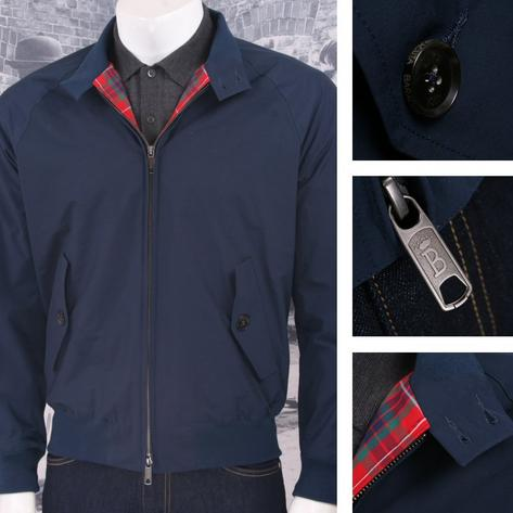 The All New Baracuta G9 Mod SLIM Fit Harrington Jacket Navy Thumbnail 1